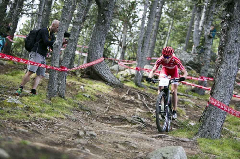 Annika Langvad Team Relay del Campeonato del Mundo de Vallnord