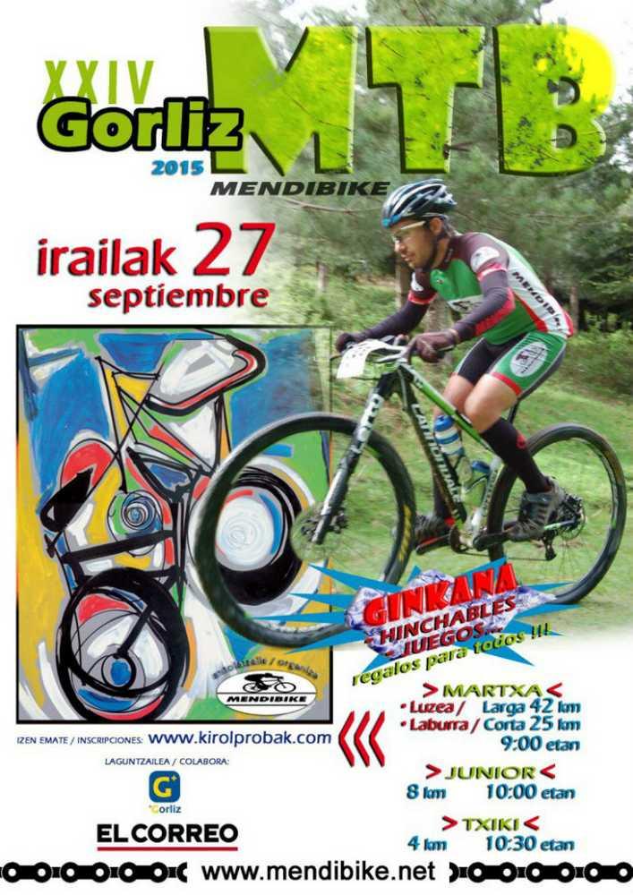 Cartel XXIV Marcha MTB Mendibike en Gorliz