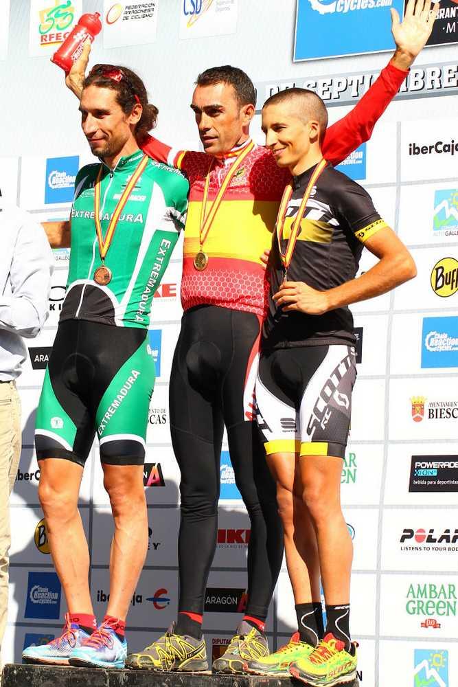 Elite podio Campeonato de España XCM (Bike Maratón) 2015