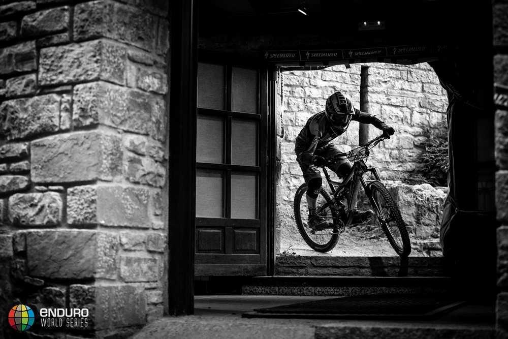 Mark Walllace in the prologue. EWS round 7, Ainsa, Spain. Photo by Matt Wragg.
