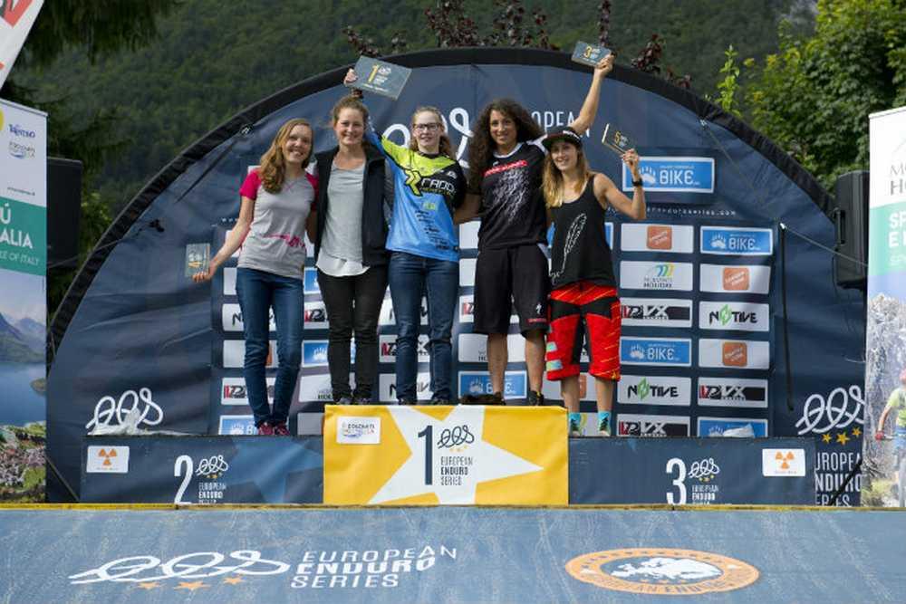 Podio Femenino cuarta prueba de la European Enduro Series