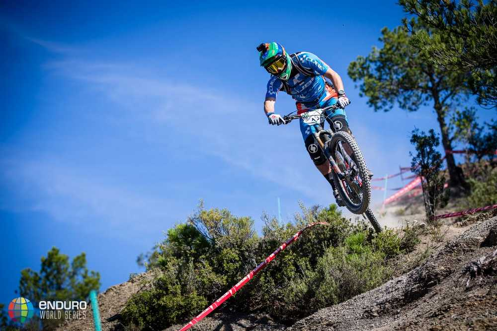 Greg Callaghan on stage five. EWS round 7, Ainsa, Spain. Photo by Matt Wragg.