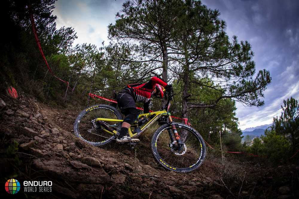 Isabeau Courdurier on stage four. EWS round 7, Ainsa, Spain. Photo by Matt Wragg.
