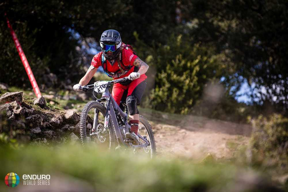 Sarah Leishman on stage two. EWS round 7, Ainsa, Spain. Photo by Matt Wragg.