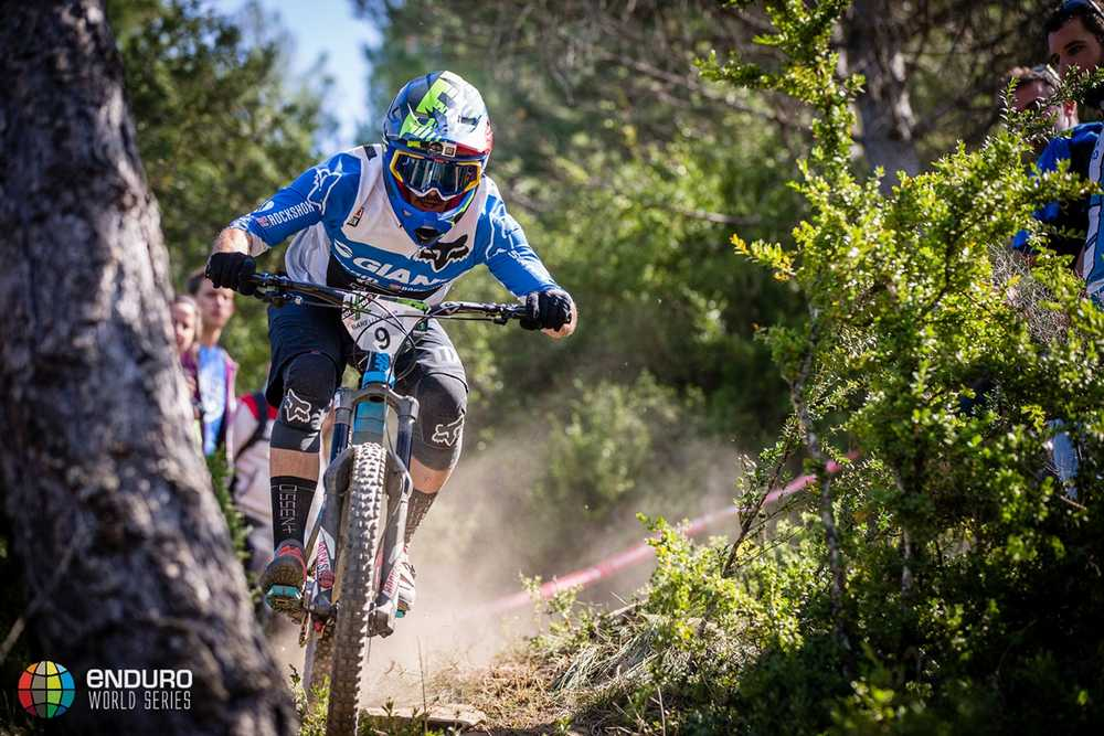 Yoann Barelli on stage one. EWS round 7, Ainsa, Spain. Photo by Matt Wragg.