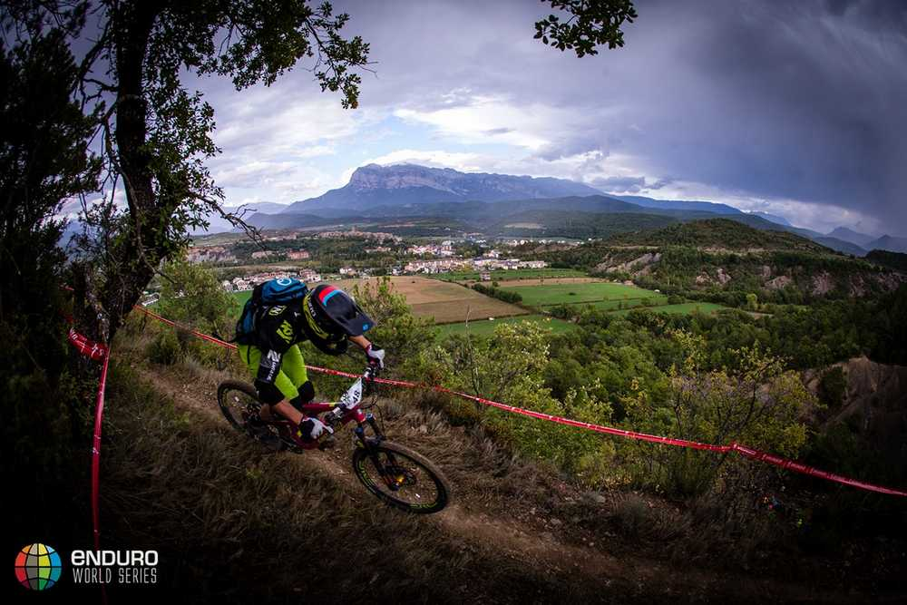 Chris Johnson in stage four. EWS round 7, Ainsa, Spain. Photo by Matt Wragg.