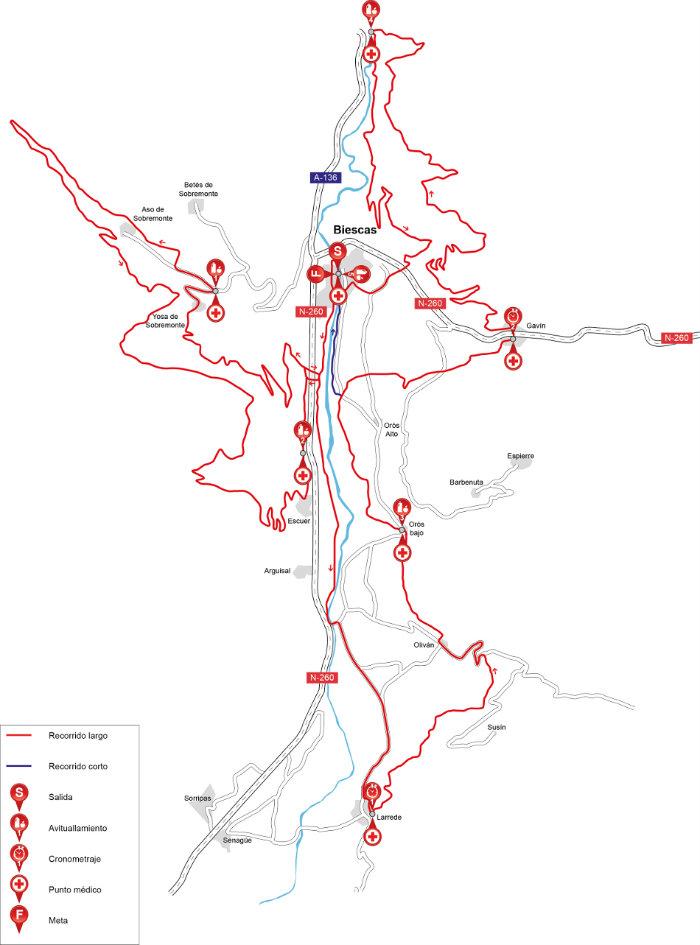 mtb_mapa_Campeonato de España de BTT Maratón-IV Quebrantahuesos 2015