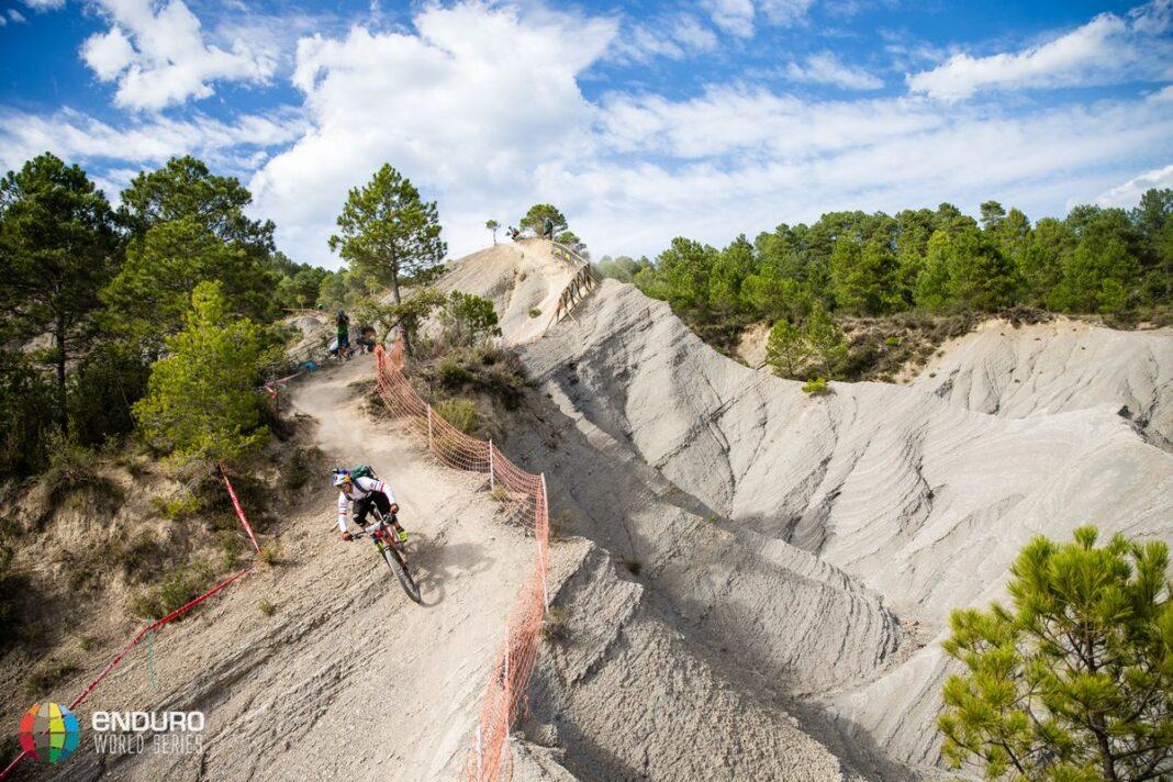 Rene Wildhaber on stage eight. EWS round 7, Ainsa, Spain. Photo by Matt Wragg.