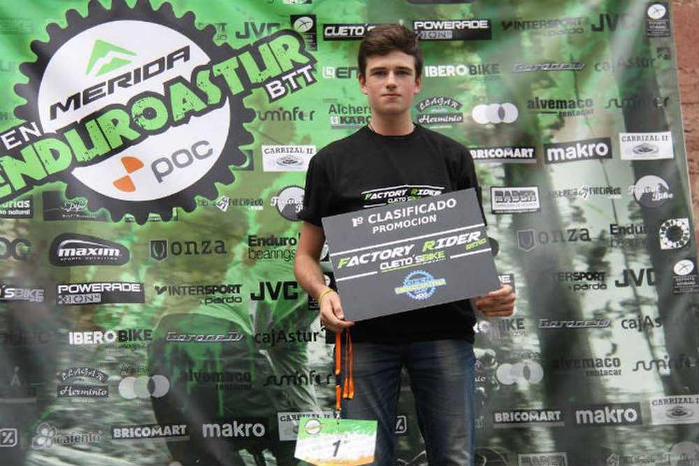 Jairo campeon categoría promoción Open EnduroAstur 2015