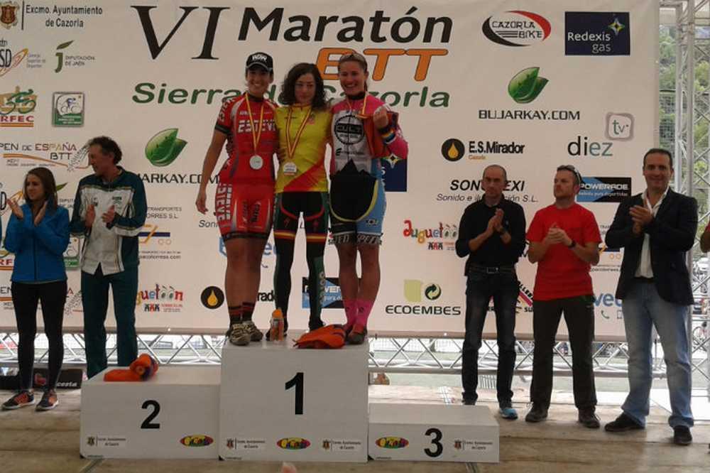 Podio Susana Alonso Extremadura-GR 100 en el Open de España XCM