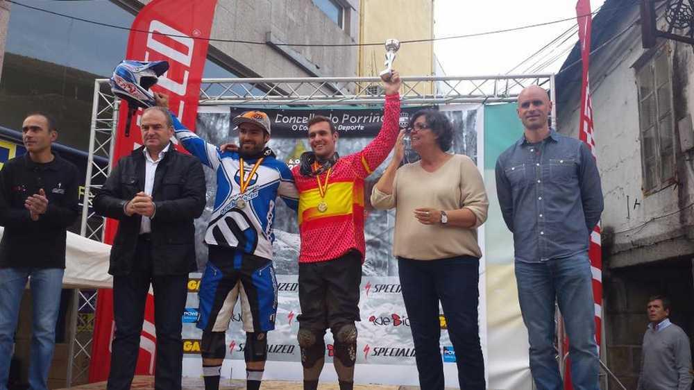 Podio elite masculino Campeonato de España de Enduro 2015