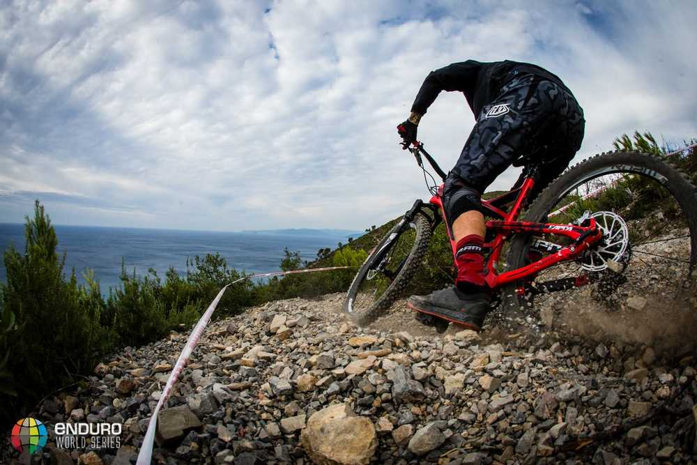 Bryan Regnier in stage four. EWS round 8, Finale Ligure, Italy. Photo by Matt Wragg.