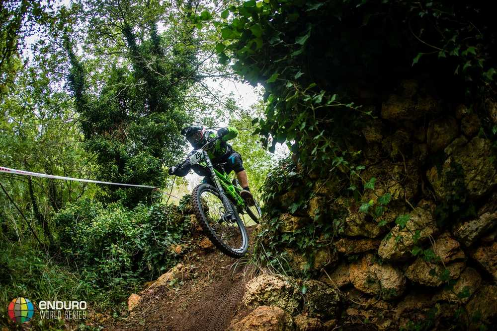 Marco Osborne on stage one. EWS round 8, Finale Ligure, Italy. Photo by Matt Wragg.
