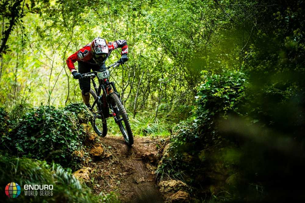 Jerome Clementz on stage one. EWS round 8, Finale Ligure, Italy. Photo by Matt Wragg.