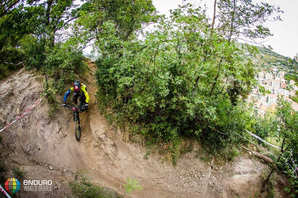 Laura Rossin on stage two. EWS round 8, Finale Ligure, Italy. Photo by Matt Wragg.