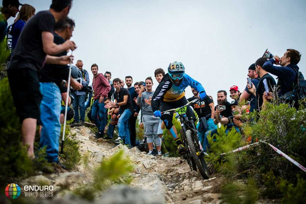 Fabien Barel on stage three. EWS round 8, Finale Ligure, Italy. Photo by Matt Wragg.