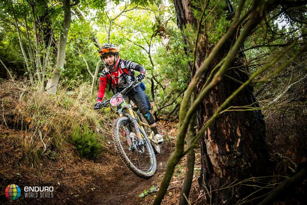 Isabeau Courdurier on stage six. EWS round 8, Finale Ligure, Italy. Photo by Matt Wragg.