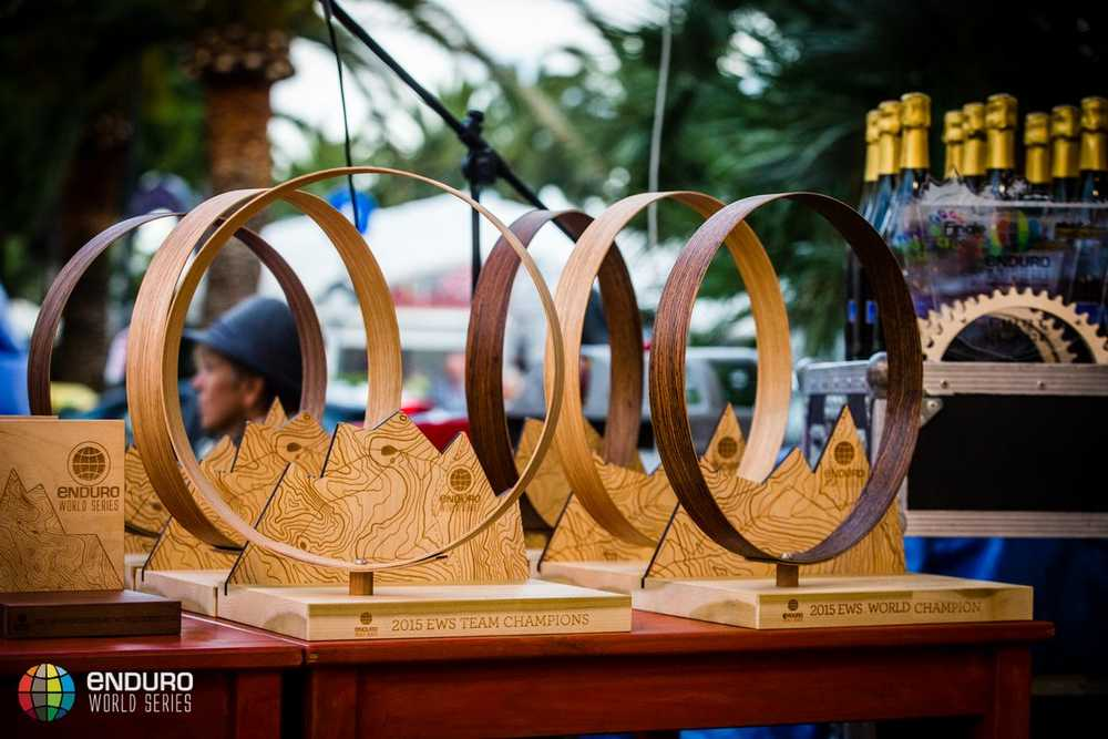 Champions trophies. EWS round 8, Finale Ligure, Italy. Photo by Matt Wragg.