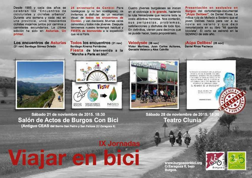 """Burgos Con Bici celebra las IX Jornadas """"Viajar en bici"""""""