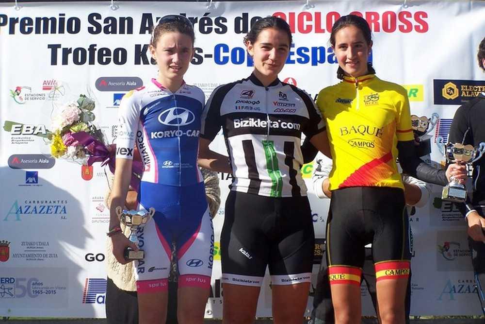 Podio feminas cadete  XI Trofeo San Andrés de Amezaga-ZuyaAmeza