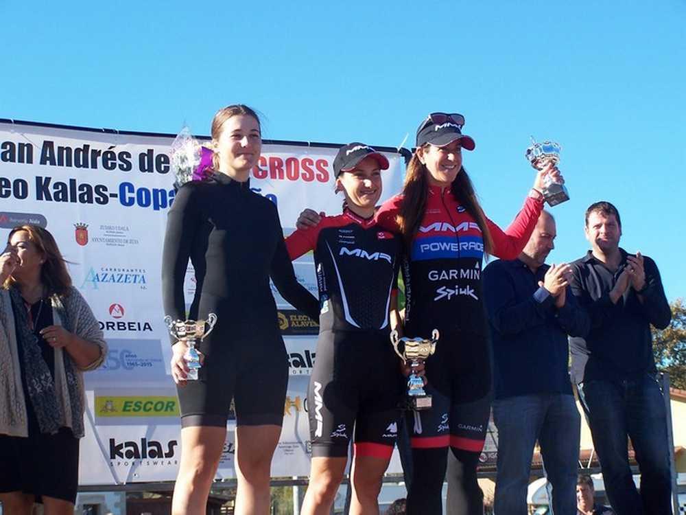Podio elite feminas  XI Trofeo San Andrés de Amezaga-ZuyaAmeza