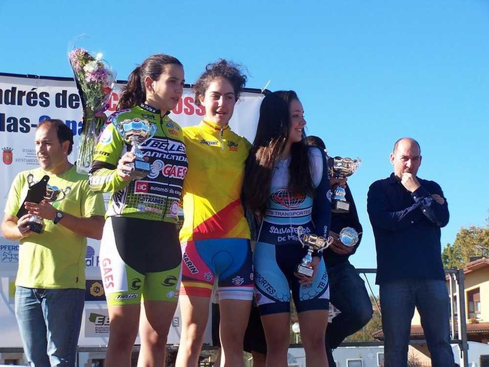 Podio feminas junior  XI Trofeo San Andrés de Amezaga-ZuyaAmeza