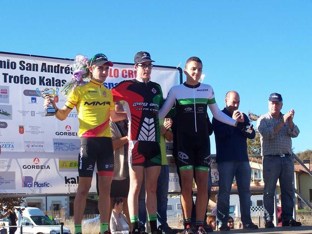 Podio junior en el XI Trofeo San Andrés de Amezaga-Zuya