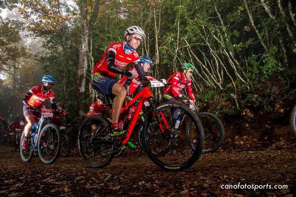 Sierra Norte Bike Chalange Etapa1_JoseTrives_PabloSamper_LuisPasamontes_JoseAlmagro