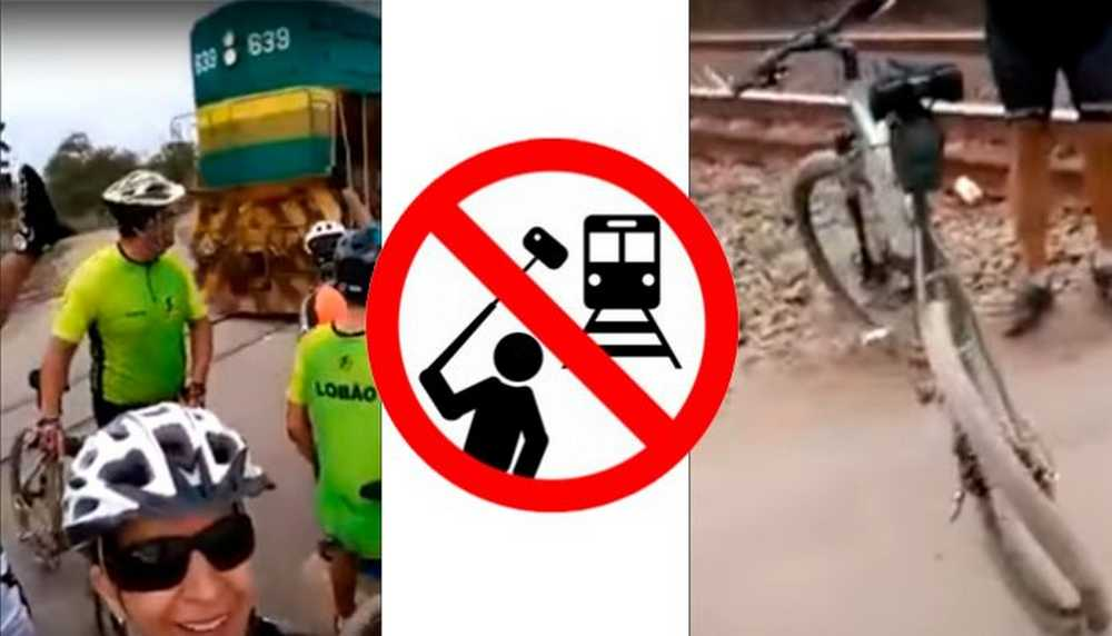 peligros del selfie en bicicleta