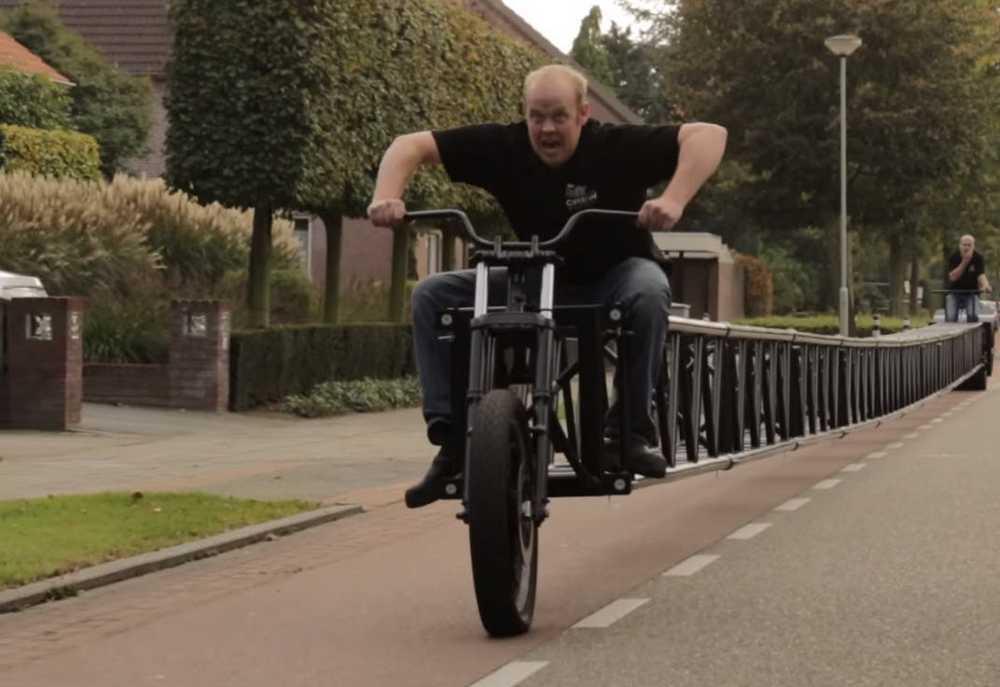 la segunda bicicleta más larga del mundo