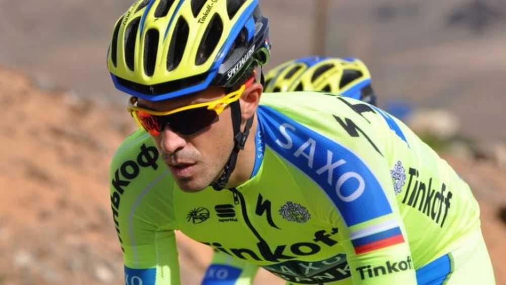 Alberto Contador preparando en Canarias la temporada 2016