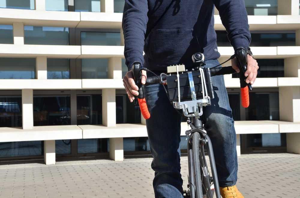 bicicleta que se uso para realizar el estudio de adelantamientos a ciclistas