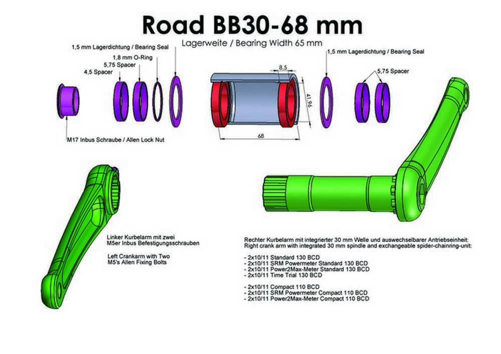 Pedalier BB30