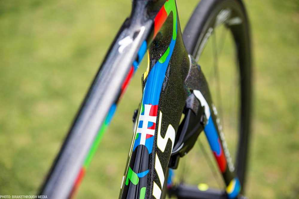 Peter Sagan presenta su Specialized S-Works Venge ViAS para 2016 direccion