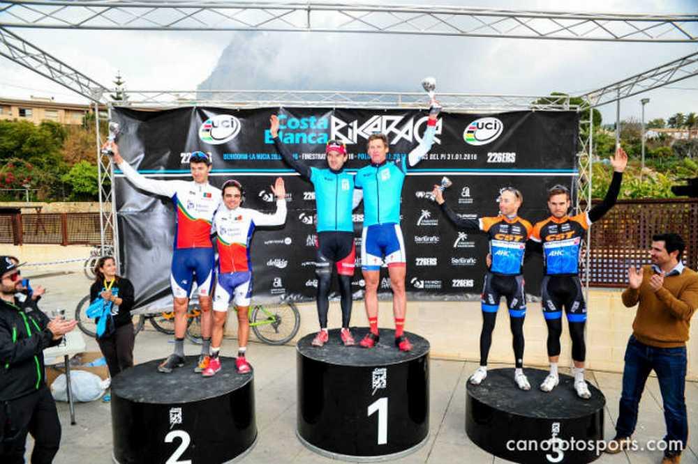 podio 2ª etapa Costa Blanca Bike Race 2016