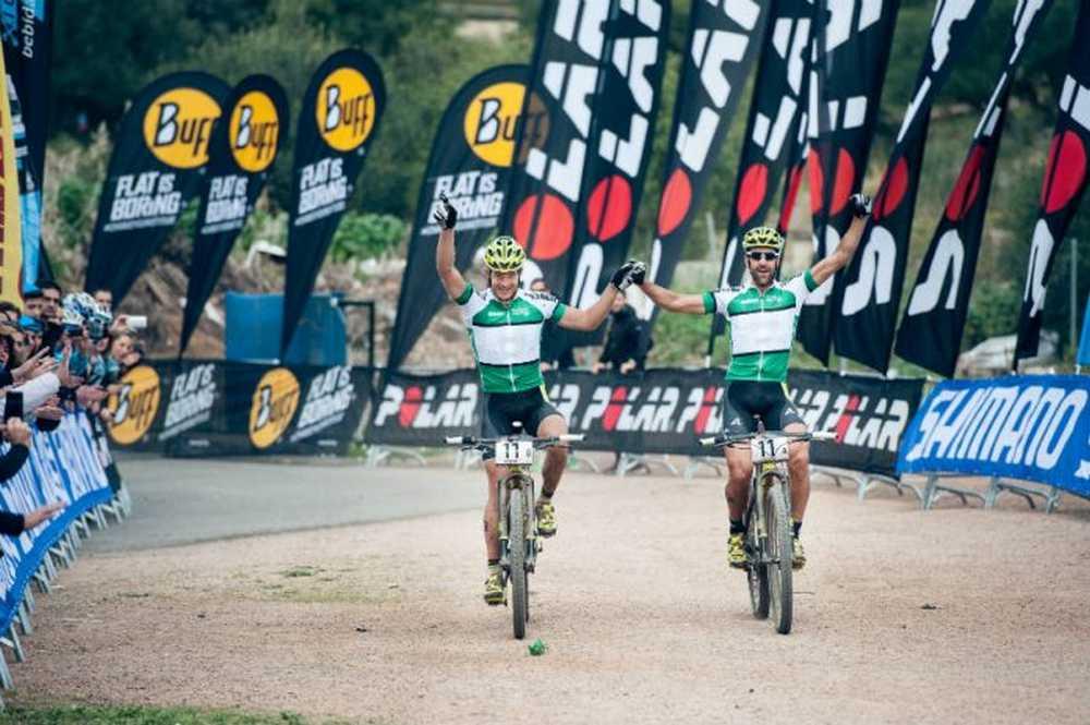 Alban Lakata y Krisitan Hynek Andalucia Bike Race