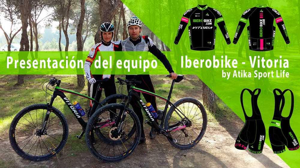 Clara Pirla y Oscar Santander corredores del equipo Iberobike - Vitoria Bikes by Atika Sport Life