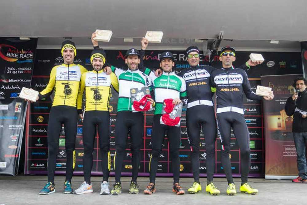 José Carlos Macías y Francisco Javier Macías ganadores Master 30 de la 4ª etapa de la Andalucia Bike Race 2016