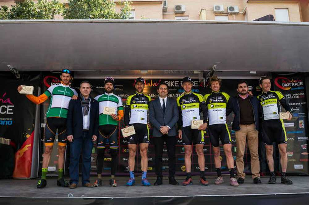 Podio 3ª etapa Andalucia Bike Race 2016