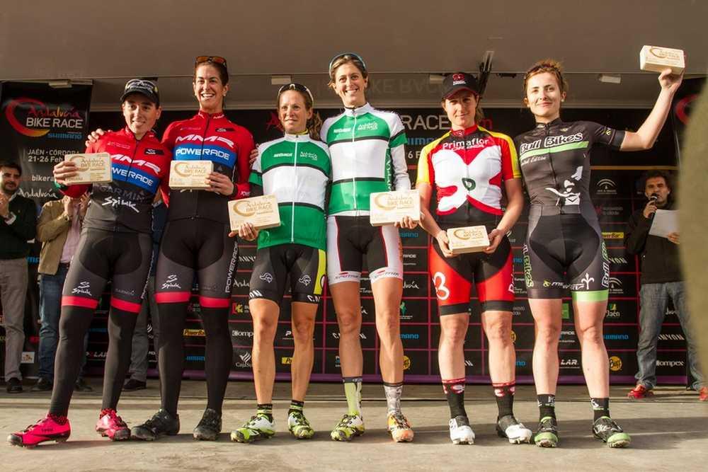 Podio Femenino elite primera etapa de Andalucía Bike Race presented by Shimano 2016