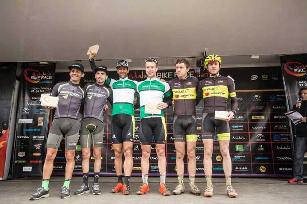 Podio elite 4ª etapa de la Andalucía Bike Race 2016