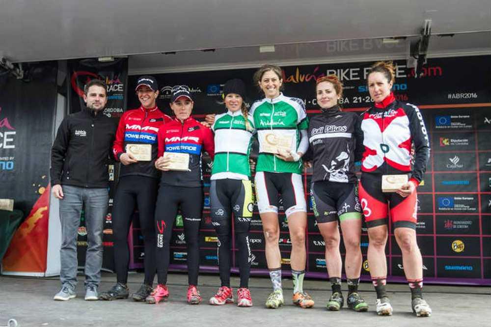 Podio elite femenino 4ª etapa de la Andalucía Bike Race 2016