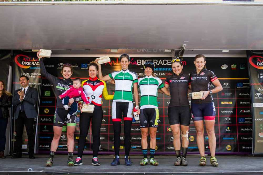 Podio femenino 3ª etapa Andalucia Bike Race 2016