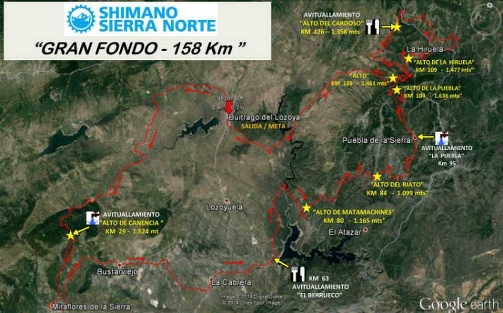 recorrido Shimano Sierra Norte 2016 gran-fondo