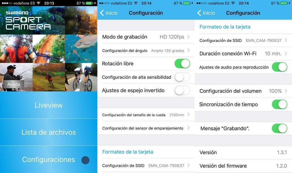 shimano_sport_camera_app_configuracion