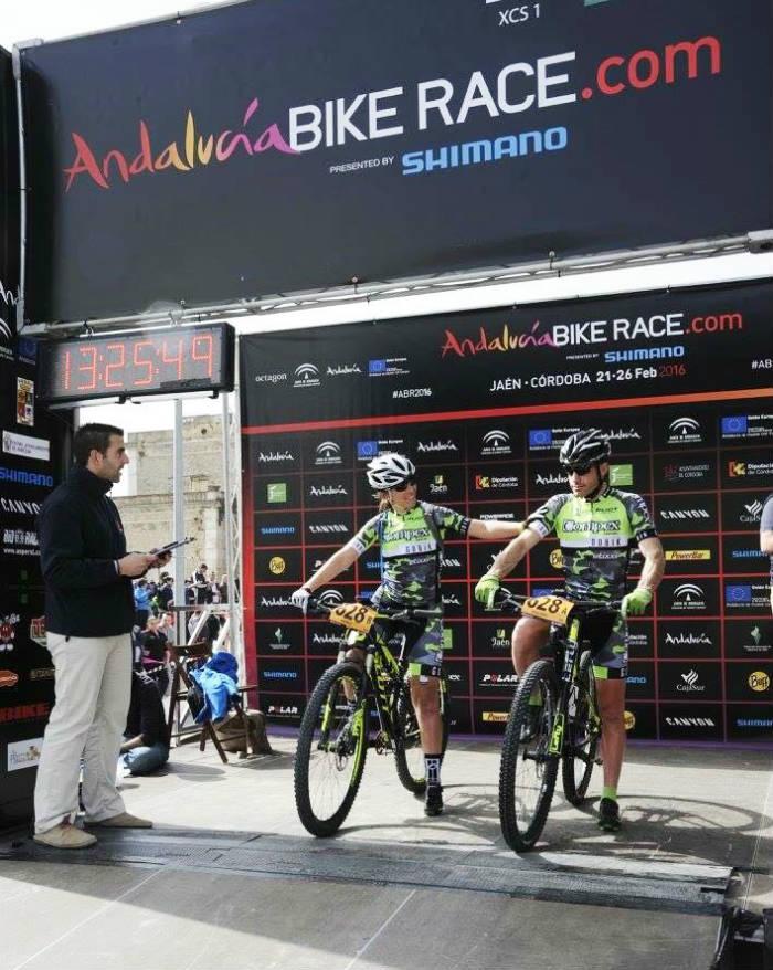 Salida Isabel Pérez Mi IV edición de la Andalucia Bike Race con #EquipoCompex