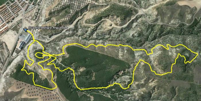 mapa sp mtb Arguedas 2016
