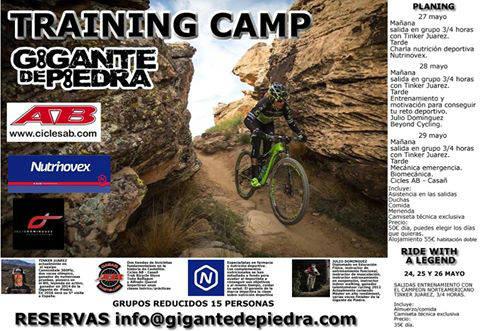 Training camp Gigante de Piedra 2016 con Tinker Juarez