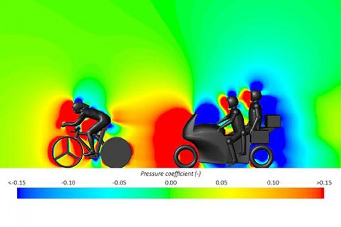 los ciclistas que llevan una moto detrás son más aerodinámicos
