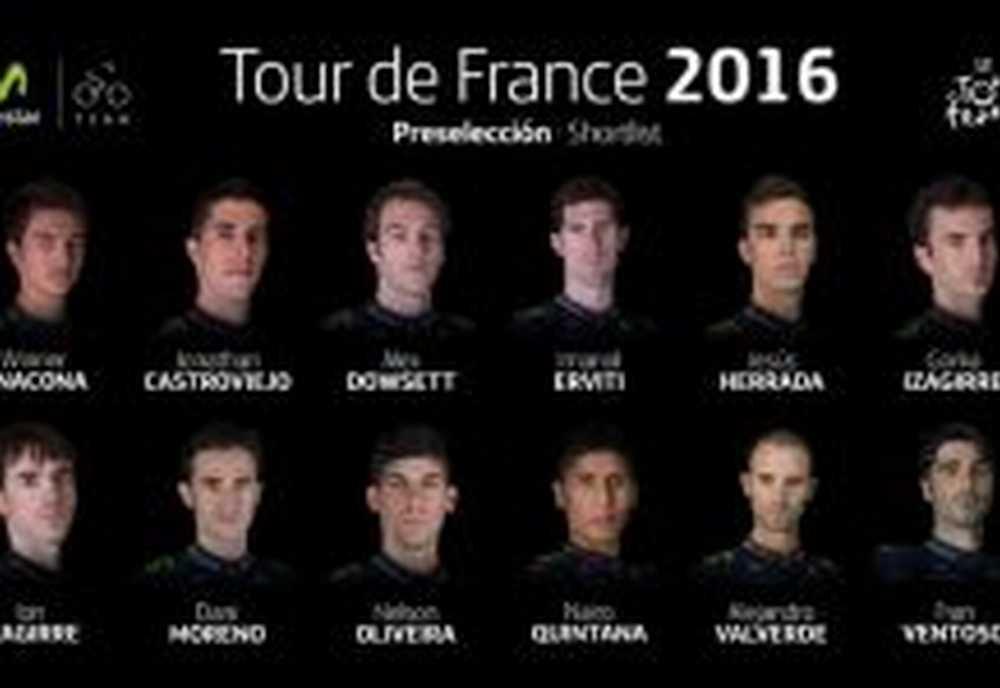 El Movistar Team presenta a sus 12 preseleccionados para el Tour de Francia